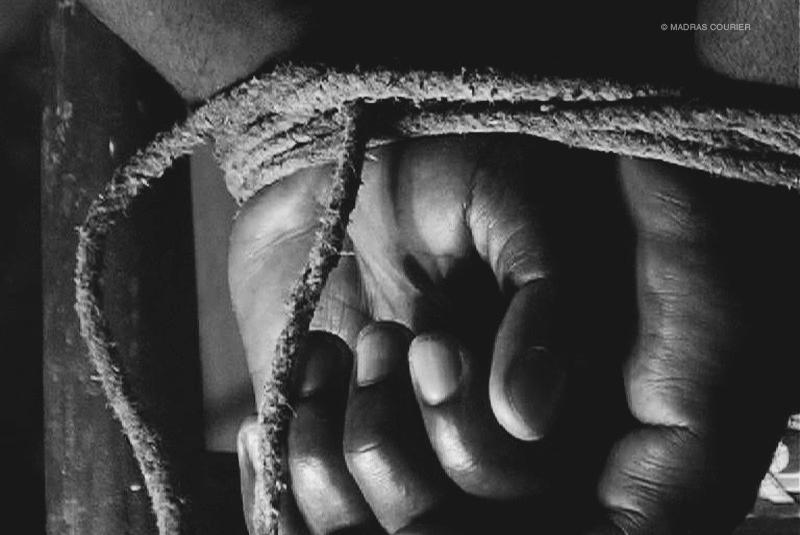 Hands, bound, tied,