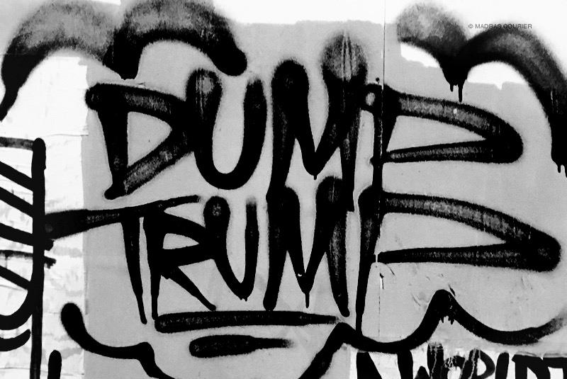 Dump, trump, graffiti
