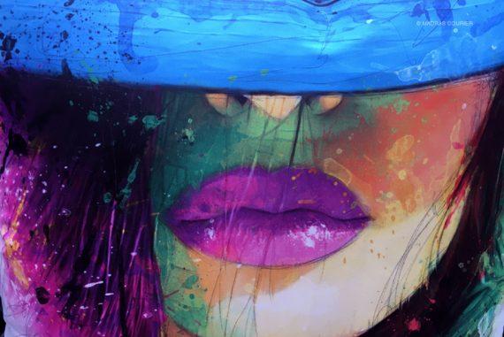 Face, graffiti, illustration