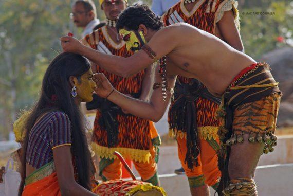 Oggudolu, makeup, old, caste, art, form, performance