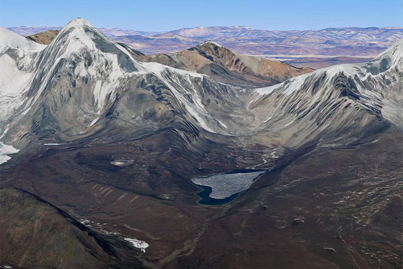 Glacial, lake, lhonak
