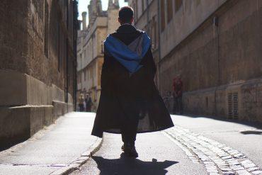 Graduate, robe, walking, indian, britain, student