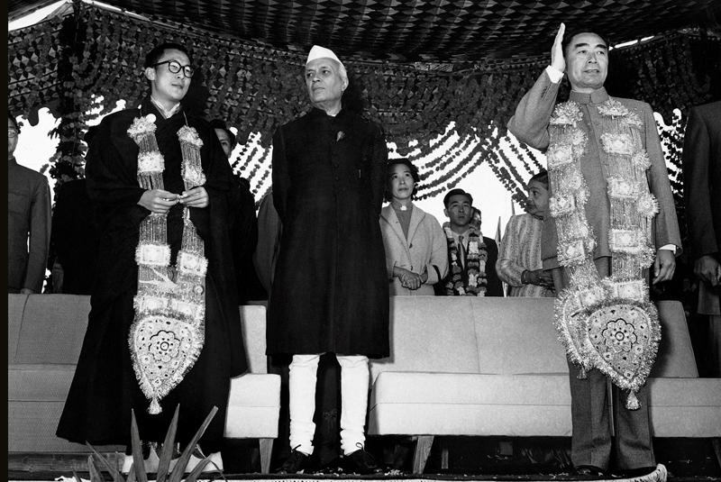 Nehru, Dalai Lama, Chou