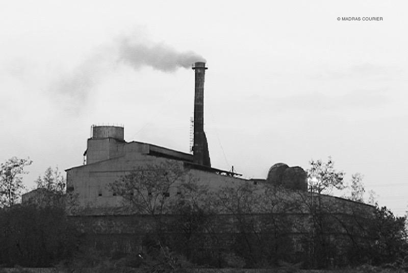 Factory, smoke